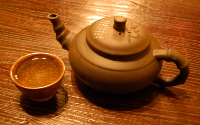 Nad šálkem zeleného čaje