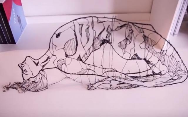 Žena kreslená 3D perem