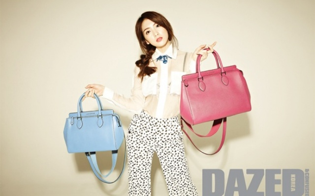 Kang Ji Young s taškami značky Louis Quatorze