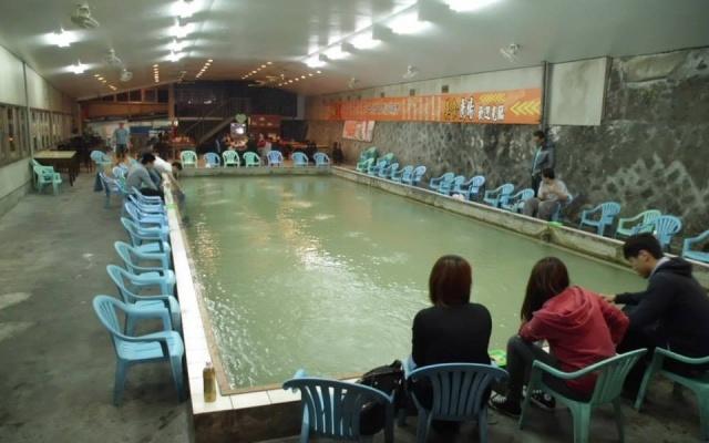 Bazén s krevetami na Taiwanu