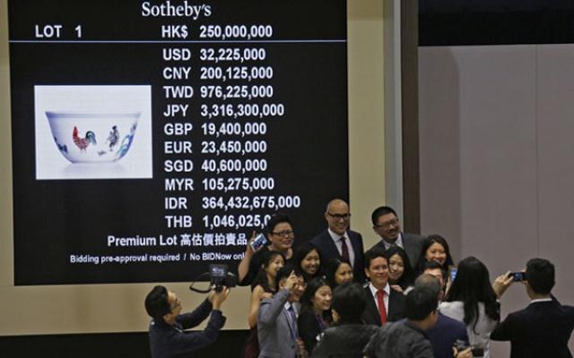 Vyhlášení rekordní sumy po skončení aukce