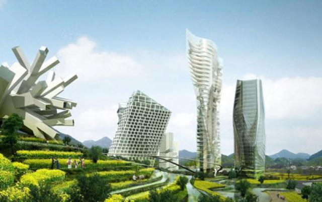 Městské centurm v Huaxi (návrh)