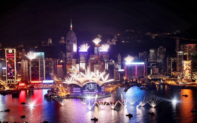 Ohňostroj v HongKongu