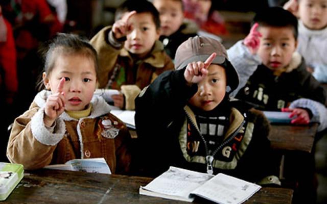 Žáci jedné z čínských tříd pro migranty