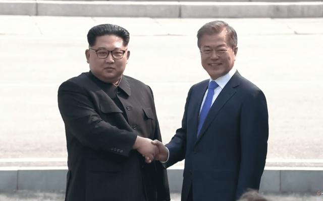 Kim Jong Un a Moon Jae In