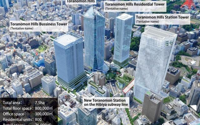 Plánovaný komplex o třech budovách