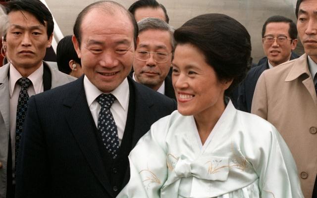 Prezident Chun Doo-hwan s manželkou Lee Soon-ja