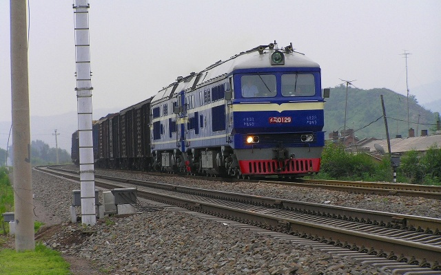 Čínský nákladní vlak - ilustrační foto