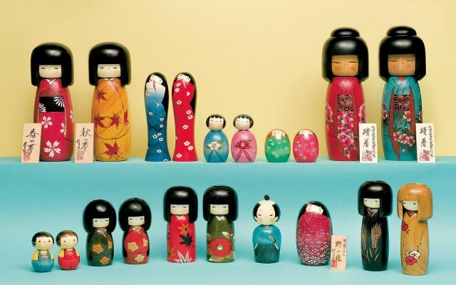 Japonské panenky Kokeshi