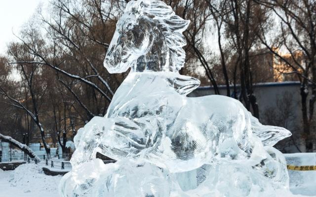 Ledová socha v Harbinu