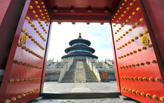 Vchod do Chrámu Nebes, Peking