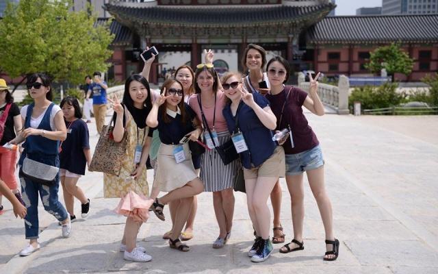 Návštěva paláce Gyeongbokgung