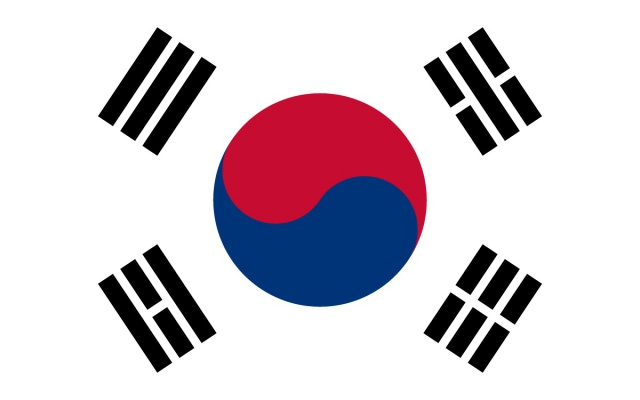 1949 Taegeukgi – současná vlajka Jižní Koreje
