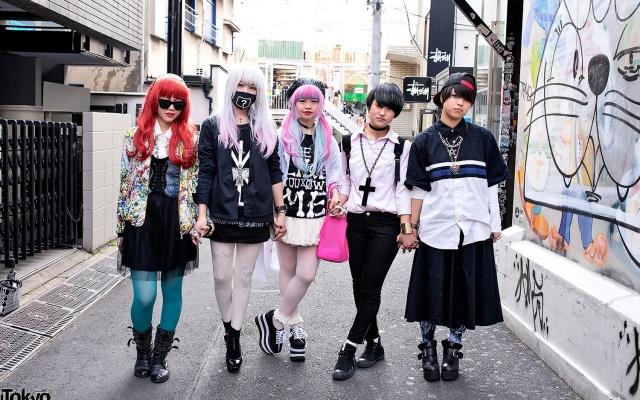 módní skupinka kamarádek