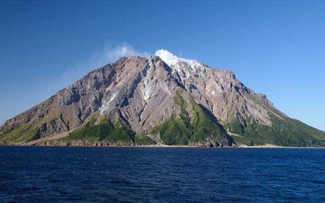 Japonská sopka Ioudake