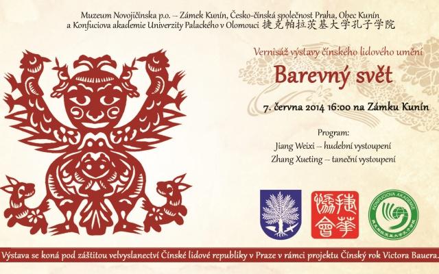 Pozvánka na vernisáž výstavy Barevný svět