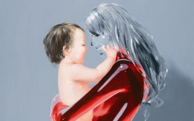Děťátko, 130x160 cm, akryl na plátně, 2010