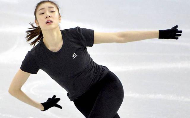 Kim Yuna během tréninku