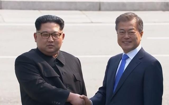 Kim Jong Un a Moon Jae-in