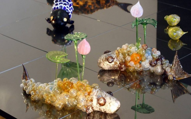 Skleněné ryby Kim Song Mi