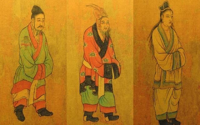 Malba vyslanců tří království ze 7. století dynastie Tang.