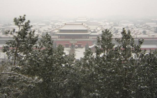 Zakázané město v zimě
