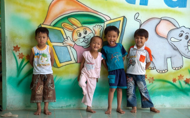 Vietnamské děti ve školce
