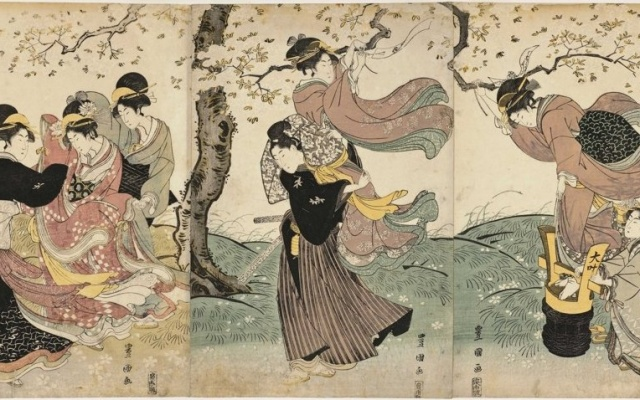 Flowers in the Wind by Utagawa Toyokuni