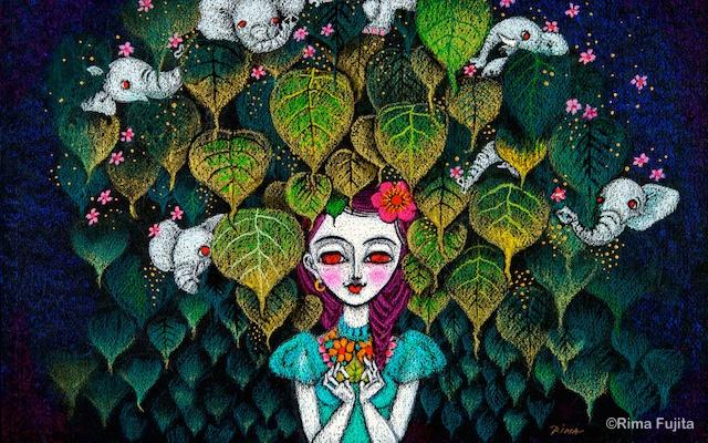 Rima Fujita a jej jedinečné pestré obrazy žien z budhizmu