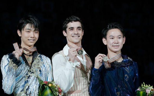 Figure Skating Championships 2015 - Men podium