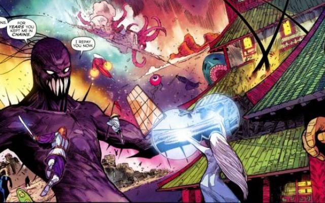Marvelovské ztvárnění boje západních bohů s japonským kami chaosu
