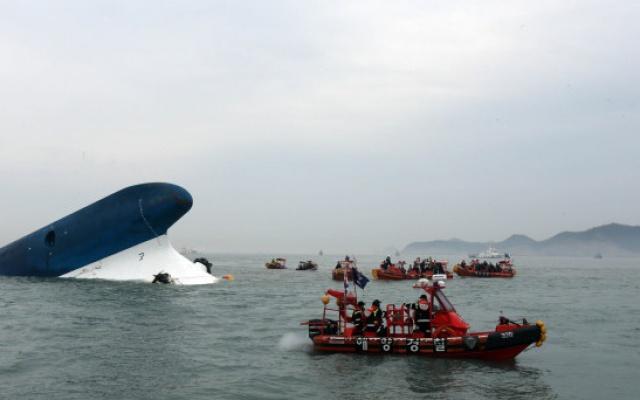 Potápějící se loď Sewol