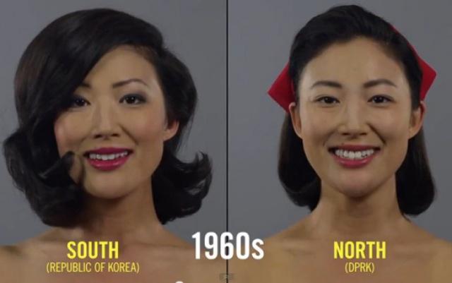 Ideál krásy 60. let v Jižní a Severní Koreji
