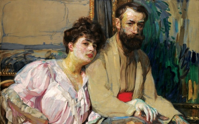 Portrait of F. Kupka and Mrs. E. Kupková, F. Kupka