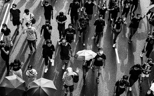 Loňské protesty v Hongkongu