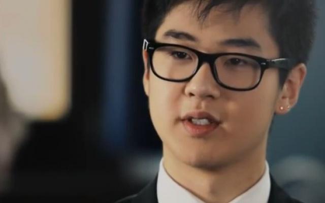 Kim Han Sol při rozhovoru pro Finnish TV