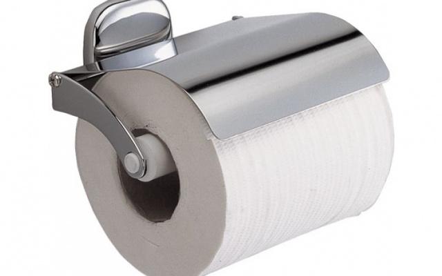 Chromovaný držák na toaletní papír s krytem