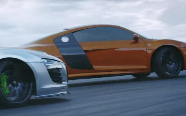 Dvě Audi R8 v akci