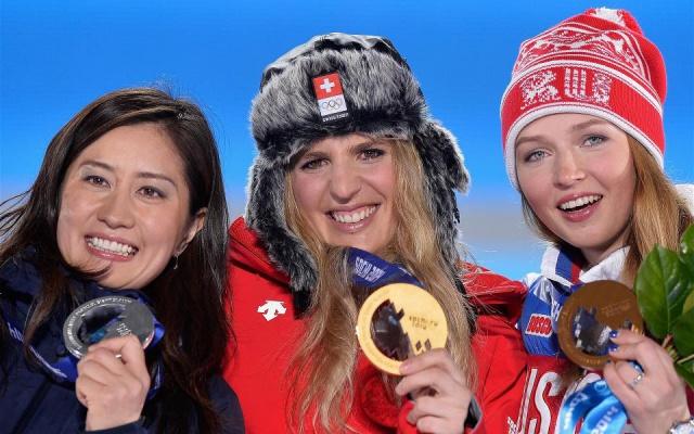 Medailistky snowboardového paralelního obřího slalomu