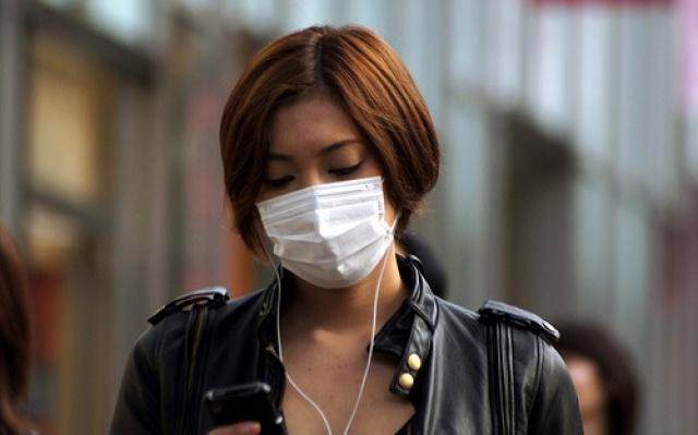 Japonka s maskou