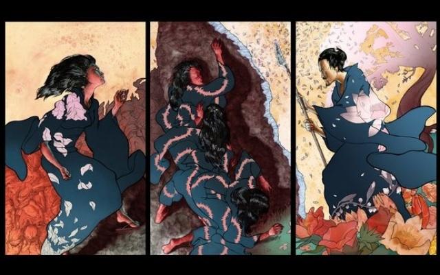 novodobé ilustrace ke kronice Kodžiki