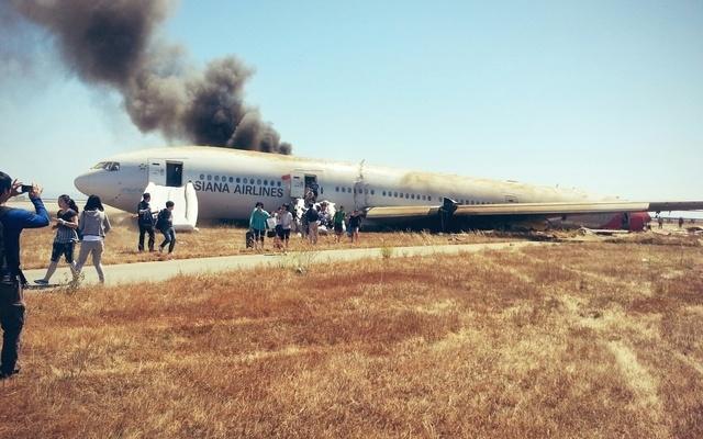 fotografie nehody sdílená jedním z pasažérů