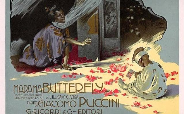 Madama Butterfly - Adolf Hohenstein (Saint Petersburg 1854-Bonn 1928)