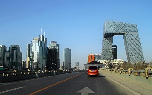Slunečný den v Pekingu v roce 2009