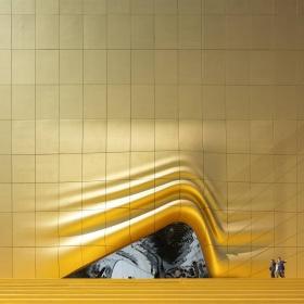 Zlatá barva Nightclubu je vidět až z nebe